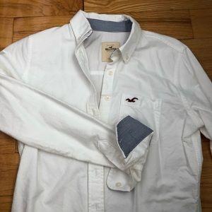 HOLLISTER White cotton shirt Small